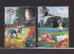 India 2010  Owls  Ducks  Birds  Biodiversity  2v  # 62653 Inde Indien - Owls