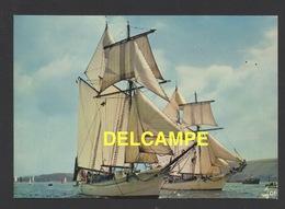 """DF / BATEAUX / VOILIERS / GOELETTES DE LA MARINE NATIONALE : """" L' ETOILE """" ET LA """" BELLE POULE """" - Sailing Vessels"""