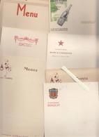 Menu - Lot De 10 Publicitaires  Boissons - Evian, Cognac, Armagnac, Champagne, Gay-mousse, Vals, Vittel, Perrier - Menus