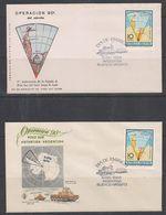 Argentina 1966 Operation Polo Sur / Antarctica / Map 1v  2 FDC (38471) - FDC