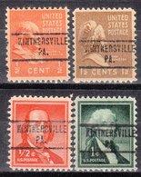 USA Precancel Vorausentwertung Preo, Locals Pennsylvania, Kintnersville 734, 4 Diff. - Vereinigte Staaten