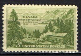 STATI UNITI - 1951 - CENTENARIO DELLA COLONIZZAZIONE DEL NEVADA - MH - United States