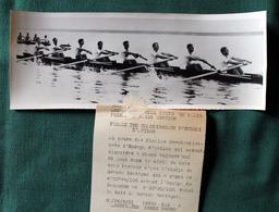 Le Huit De Grande Bretagne Championnats D'Europe D'Aviron  à Macon 1951 Photo Presse 240x90 - Sport