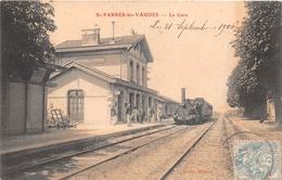 ¤¤   -  SAINT-PARRES-les-VAUDES   -  La Gare  -  Train , Chemin De Fer   -  ¤¤ - Autres Communes