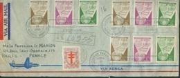 Amériques - République Dominicaine  - Poste 1958 Enveloppe   Yt 496 497 498 Oblitérés - Dominican Republic