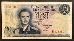 Luxembourg 20 Francs 1966 LOTTO 1765 - Luxembourg