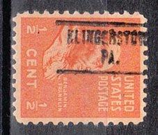 USA Precancel Vorausentwertung Preo, Locals Pennsylvania, Klingerstown 734 - Vereinigte Staaten
