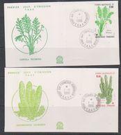 TAAF 1986 Plants 2v 2 FDC (38473) - FDC