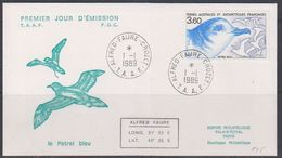 TAAF 1989 Le Petrel Bleu 1v FDC (38474) - FDC