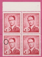 Belgique 1954 - SERVICE - ** - COB S58 X 4  - Roi Baudoin Avec Lettre B - Fraicheur Postal -  160€ - Officials
