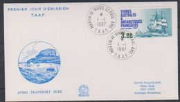 "TAAF 1987 Sailing Ship ""Eure"" 1v FDC (38476) - FDC"