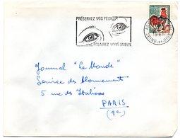 SEINE Et OISE - Dépt N° 78 = ARGENTEUIL Ppal 1965 = FLAMME SECAP Illustrée ' PRESERVEZ VOS YEUX / ECLAIREZ VOUS MIEUX ' - Non Classés