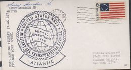 USA 1968 Marine Ship Fiddler / Arctic Operations 1968 Cover Si Master (38477) - Poolshepen & Ijsbrekers