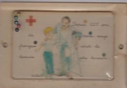 CROIX ROUGE FRANCAISE, Carte Illustrée Avec Jeu De Patience à Billes - Salute