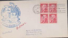 USA 1959 Antarctica  Operation Deep Freeze Ca Little America Antarctica  Sep 1 1959 Cover (38478) - Poolshepen & Ijsbrekers