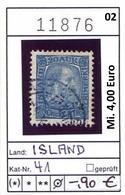 Island - Iceland - Islande - Michel 41 - Oo Oblit. Used Gebruikt - 1873-1918 Deense Afhankelijkheid