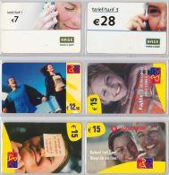 LOT PREPAID 6 PHONE CARD- BELGIO (E22.17.1 - Belgio