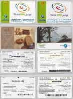 LOT PREPAID 4 PHONE CARD- TUNISIA (E22.20.1 - Tunisie
