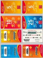 LOT PREPAID 4 PHONE CARD- TUNISIA (E22.20.5 - Tunisie