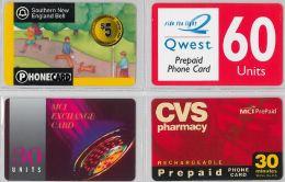 LOT 4 PREPAID PHONE CARD- STATI UNITI (E23.25.5 - Verenigde Staten