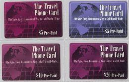 LOT 4 PREPAID PHONE CARD- STATI UNITI (E23.29.1 - Verenigde Staten