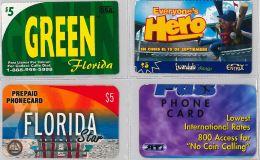 LOT 4 PREPAID PHONE CARD- STATI UNITI (E23.31.1 - Verenigde Staten
