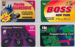 LOT 4 PREPAID PHONE CARD- STATI UNITI (E23.31.5 - Sonstige