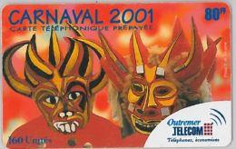 PREPAID PHONE CARD- ANTILLE FRANCESI (E24.3A.7 - Antilles (French)