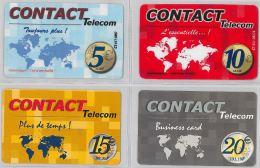 LOT 4 PREPAID PHONE CARD- ANTILLE FRANCESI (E24.4.1 - Antilles (French)