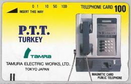 PHONE CARD- TAMURA 1989TURCHIA (E24.12.6 - Turkey