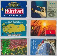 LOT 6 PHONE CARD- TURCHIA (E24.27.1 - Turkey