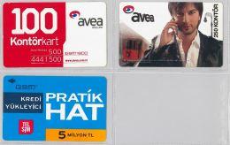 LOT 3 PREPAID PHONE CARD- TURCHIA (E24.34.1 - Turkey