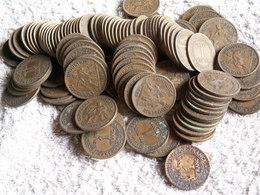 PLUS DE 125 MONNAIES 1 Franc -  CHAMBRE DE COMMERCE  - 500 GRAMMES  - Années Variées - Kilowaar - Munten