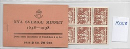 1938 MNH Booklet Mi 246DB (9 Pairs), Sweden, Postfris - Boekjes