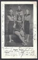 CPA ANCIENNE FRANCE-  ARTISTES ACROBATES- LES NAGELS FAMILY EN 1900- TRES GROS PLAN - Inns