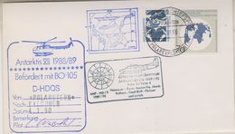 Germany 1990 Antarctica Heli Flight (from Polarstern To Base Filchner 4.1.90 Cover (38483) - Postzegels