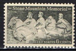 STATI UNITI - 1970 - MEMORIAL IN ONORE DI ROBERT E. LEE, JEFFERSON DAVIS E STONEWALL JACKSON - MNH - Stati Uniti