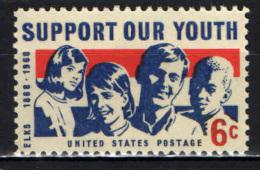STATI UNITI - 1968 - SOSTEGNO AI GIOVANI AMERICANI - MNH - Stati Uniti