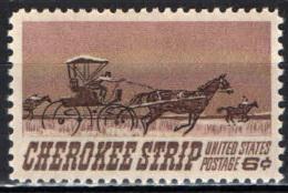 STATI UNITI - 1968 - 75° ANNIVERSARIO DELL'APERTURA DEL TERRITORIO CHEROKEE AI COLONI - MNH - Stati Uniti