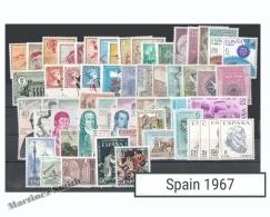 Complete Year Set Spain 1967 - 72 Values - Yv. 1426-1497 / Ed. 1767-1838, MNH - España