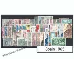 Complete Year Set Spain 1965 - 65 Values - Yv. 1296-1357 / Ed. 1631-1695, MNH - España