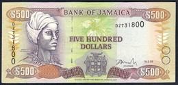 Jamaica - 500 Dollars 1999 -  P77b - Jamaica