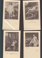 Menu - Laboratoire Girard - Lot De 12 - Lithographie - Oeuvres D'art : Rembrandt, Prudhon, Watteau, Poussin, Hals, Rapha - Menus