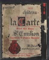 41 -- étiquettes De Saint Emilion De 1970  Grand Cru  ( Un Peu Abimée) - Vino Tinto