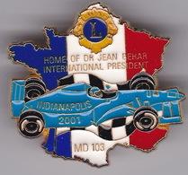Pin's Automobile F1 Indianapolis 2001 Lion's Club ( Carte De France ) - F1