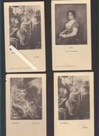 Menu - Laboratoire Girard - Lot De 4 - Oeuvres D'art : Botticelli, Boucher, Goya - Voir état - Menus