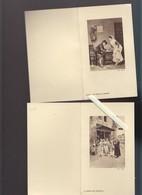 Menu - Laboratoire Bosson - Lot De 4 - Oeuvres D'art - En Litho - Menus