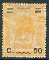 ITALIAN SOMALIA 1926 Lion 50C On 5A Of 1907 Optd With Bars At Top, VF Mint, MiNr 80, SG 74, C.v. €20.00 - Somalia (1960-...)