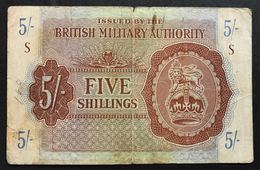 5 Shilling  BRITISH MILITARY AUTHORITY 1943  LOTTO 1780 - [ 3] Military Issues