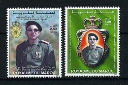 Roy. Maroc ** N° 1280/1281 - 45e Ann. De La Création Des Forces Armées - Morocco (1956-...)